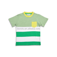 green stripe child t shirt boys new fashion 2015 Good quality 100% Cotton Tops Children Clothes