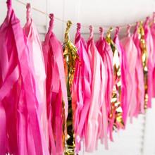 Tissue paper tassel garland for Hawaiian wedding party decoration