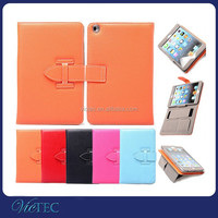 2015 Luxury fashion belt clip pu stand case for apple ipad air mini