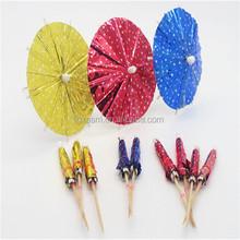 Best quality chinese fashion foil paper parasol picks