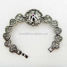 latest design cheap custom alloy chain bracelet ,enamel all color available bracelet jewelry #3436