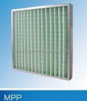 Metal frame/Pleated non-woven synthetic media Primary Filter MPP Panel Air Filters