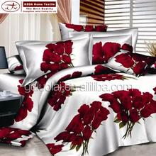 3d flower bedspread decorative pillowcase, bed sheet set, queen bedding set