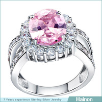 wholesale large round oval women wedding ring gift platinum factory