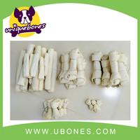 "10""-11"" white expanded knot bone dog 2pk rawhide bones white dog bone"