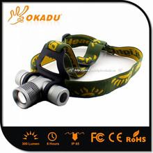 Fashionable Style Aluminum Alloy Q5 18650 Led Flashlight Waterproof Headlamp