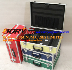 Lockable shockproof hard box aluminum Measuring Instrument case