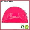 Attractive design good looking convenient crescent moon shaped facial cleanser transparent PVC mini cosmetic bag with zipper