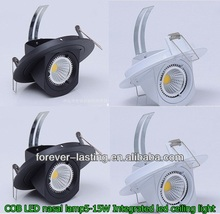5W 10W 15W 30W COB led trunk light/Gimbal/Rotable led downlight