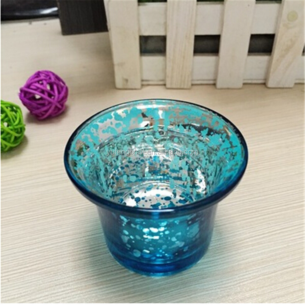 Colored Glass Tealight Holder Glassware For Candle Glass