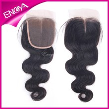 Natural Blenched knots Enoya direct hair factory body wave hair piece Milldle part/3 part