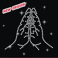 Religious Hamsa Crystal Rhinestone Motif Design Heat Transfer L 1 05