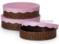 CONFETTI SPRINKLES Cookie Boxes 3 Piece Nested - Matte Round