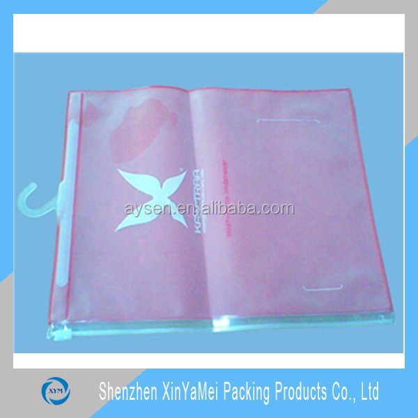 Apparel Industrial Use and PVC Plastic Type pvc hanging bag