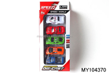 1:64 pull back die cast metal racing car 5colors 5pcs assorted