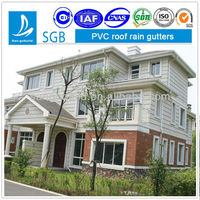 pvc rainwater gutters and downspouts China manufaturer