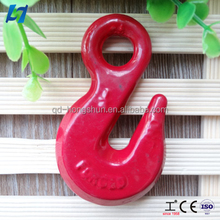 forged steel crane clevis red color Spray hook h323