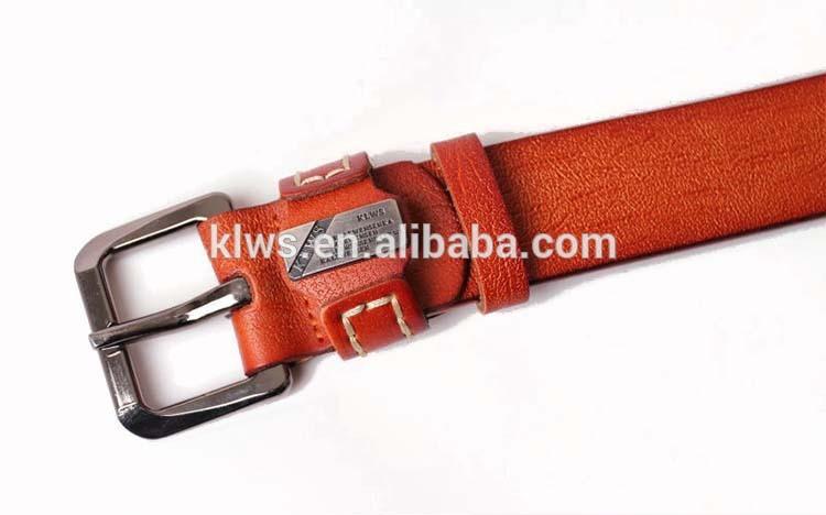 Belt Hot Selling Men's Cowhide Leather Belt with Rivet