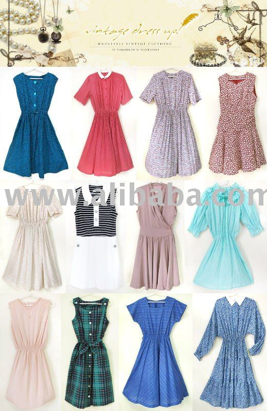 vintage clothing wholesale original 50s 70s dresses in