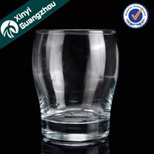Round whisky glass / decals printing glass goblet promotion
