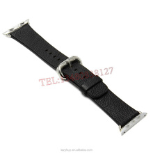 Band For Apple Watch Genuine leather original Watch band with connection adapter metal Clip