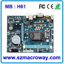In large stock Computer h61 1155 motherboard for v1.1 ddr3