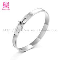 locking steel snap on bracelet