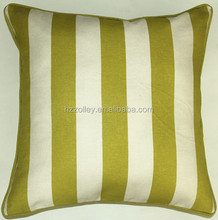 Western country Stripe print fabric Cotton Hotel duck down feather Neck Pillow