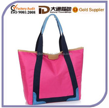 2015 High Quality Fashion Neoprene Wholesale Reusable Laminated Lady Handbag Tote Shoulder Shopping Bag