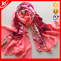 Big Size Flower Printed Scarf