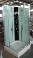 bathroom PORTABLE sector enclosed shower STALL glass sliding doors design with termostatic mixer for mordern home design