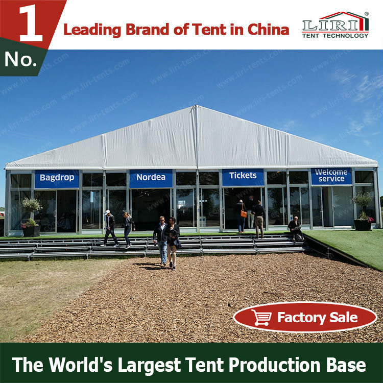 30x30 Semi Permanent Construction Tent Walls View
