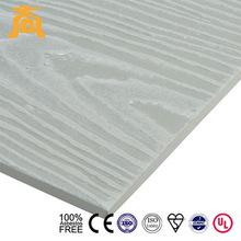 Cream color Guangzhou Fiber cement Wood clapboard siding