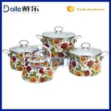 Enamelware Casserole plastic pot for nurseri plant