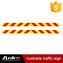 red and yellow reflective warning tape, reflective conspicuity tape 10years, reflective logo