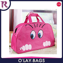 Lady Cute Nylon Cat Print Travel Bags Duffle Sport Bags bolsa saco sac