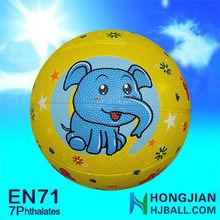 jaingyin cheap NO.1 basketball rubber colorful