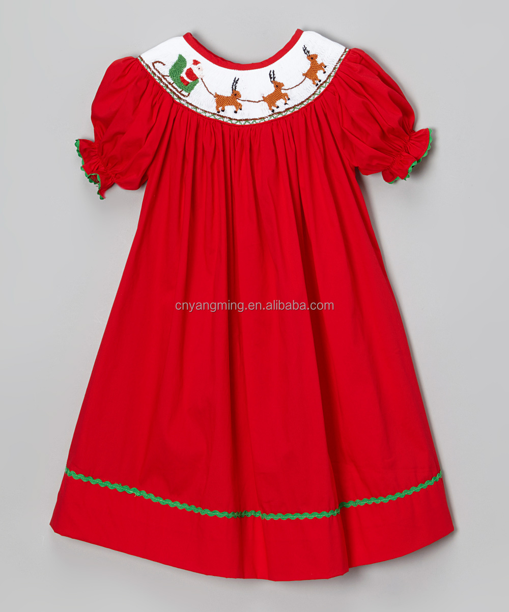 Girls Smocked Christmas Dress hd pictures