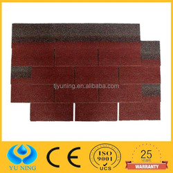 3 tab red asphalt roof shingles