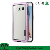 made in china dual protective premium bumper frame case pink design name brand cell phone cases for samsung galaxy s6