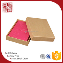 A5 PU leather cover embossed logo lock notebook