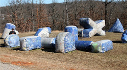 Customized Inflatable Paintball Equipment Bunker On Sale