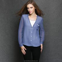 2015 European style alibaba Professional Factory feminine blouse