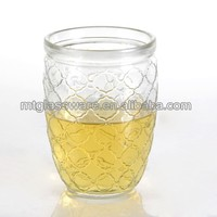 beer,juice,ice water used machine down the galss highball, carving decorative pattern