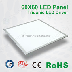 Top quality Tridonic driver, White or Silver Frame Ultra Thin TUV 62x62 LED Panel with Wireless LED Driver