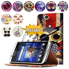 mobile phone case wallet stand printed pu leather flip case for sony xperia arc s lt18i x12