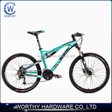 26 inch 27 speed dual suspension mountain bike with rear shock