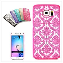 Retro Royal Court Flowers Pattern PC Hard Case for Samsung Galaxy S6 G9200