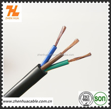 3*2.5mm2,3*4.0mm2,3*6.0mm2 Flexible Round Stranded Copper Power Cable with BLACK PVC