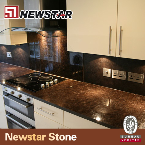Antiqued Marble Countertops: Antique Brown Granite Precut Kitchen Countertop